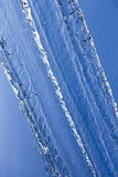 Moto dell'acqua freezed nel cielo blu Fotografie Stock
