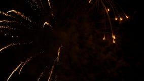 Moto dell'esposizione del fuoco d'artificio il giorno del Canada stock footage
