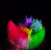 Moto della gelata dell'esplosione di polvere colorata Fotografia Stock