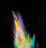 Moto della gelata dell'esplosione di polvere colorata Fotografia Stock Libera da Diritti