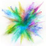 Moto della gelata dell'esplosione di polvere colorata Immagine Stock Libera da Diritti