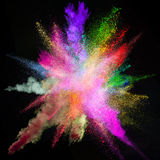 Moto della gelata dell'esplosione di polvere colorata Immagine Stock