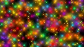 Moto delle particelle vaghe multicolori illustrazione vettoriale