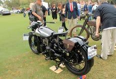 Moto des anglais des années 1930 de vintage Photo libre de droits