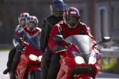 Moto deux dans la route Photos libres de droits