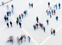 Moto di Blured della gente della folla Fotografia Stock