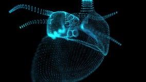 Moto di ciclaggio senza cuciture animato di cuore umano r royalty illustrazione gratis