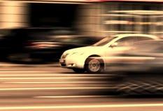 Moto di traffico della via dell'automobile Fotografie Stock