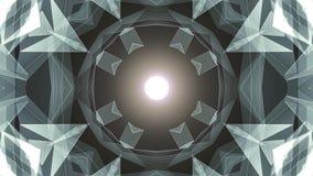Moto dinamico di tecnologia del poligon di forma della rete della nuvola di animazione qualità brillante BIANCA simmetrica astrat illustrazione vettoriale