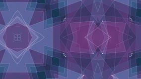 Moto dinamico di tecnologia del poligon di forma della rete della nuvola di animazione qualità brillante ROSA BLU simmetrica astr illustrazione vettoriale