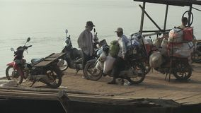 Moto driver,  mekong, cambodia, southeast asia stock video