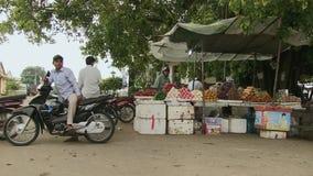 Moto driver , street food, cambodia, southeast asia stock footage
