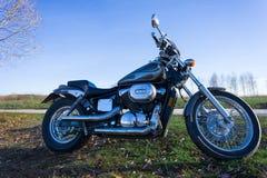 Moto en un paisaje Foto de archivo libre de regalías