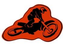 Moto enduro background Vector icon sticker design stock illustration