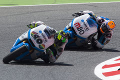 Moto2. Esteve Rabat And Pol Espargaro Stock Photos