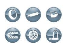 moto för 2 symboler Royaltyfri Fotografi