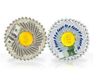 Moto finanziario Fotografie Stock Libere da Diritti