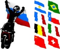 Moto flaga Zdjęcie Stock
