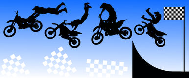 Moto freestyle. Vector sport background stock illustration