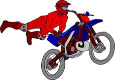 Moto freestyle. Vector - moto freestyle isolated on background Stock Images