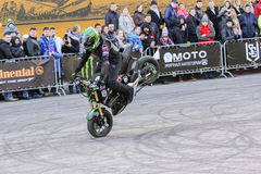 Moto freestyle on a bike. Stock Images
