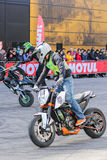 Moto freestyle group. Stock Images