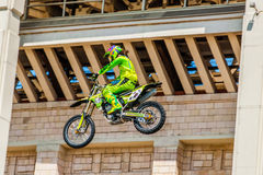 Moto Freestyle show FMX Masters. Moscow, July 26, 2014 Royalty Free Stock Photos