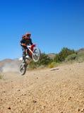 Moto Girl Jumping Royalty Free Stock Photo