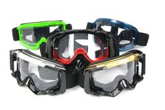 Moto Goggles #6. Enduro and Cross motorcycle goggles Stock Photo