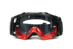Moto Goggles. Enduro and Cross motorcycle goggles Stock Photography