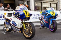 Moto GP bikes Stock Photo