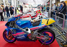 Moto GP motorcycles Royalty Free Stock Photo