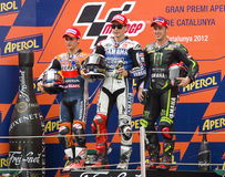 Moto GP Podium Stock Images