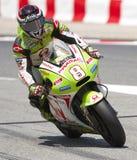 Moto GP Racing - Hector Barbera Stock Images
