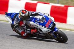 Moto GP Racing - Jorge Lorenzo royaltyfria foton