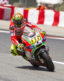 Moto GP Racing - Valentino Rossi Royalty Free Stock Photography