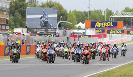 Moto GP Starting Grid Stock Photography