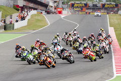 Moto grand prix av Catalonia Royaltyfria Foton
