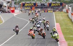 Moto grand prix av Catalonia Arkivbild