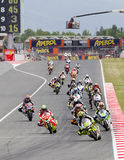 Moto Grand Prix of Catalonia Royalty Free Stock Photography