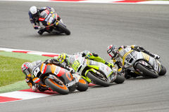Moto2 Grand Prix. Some riders compete at the race of Moto 2 Grand Prix of Catalunya, on June 3, 2012 in Barcelona, Spain. The winner was Andrea Iannone Royalty Free Stock Photography