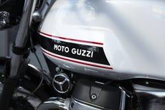 Moto Guzzi. Gray Moto Guzzi  engine and gas tank Royalty Free Stock Photo