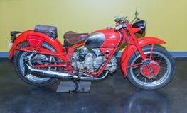 1951 Moto Guzzi Falcone 500cc. On display at the American Car Museum, Tacoma, Washington. 9 May, 2015 Royalty Free Stock Photos