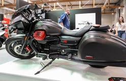 Moto Guzzi MGX 21 motorcykel som visas på MOTO-SHOWEN i Krakow poland Royaltyfri Bild