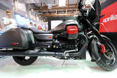 Moto Guzzi MGX 21 motorcykel som visas på MOTO-SHOWEN i Krakow poland Royaltyfri Foto