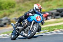 Moto Guzzi na biegowym śladzie Obraz Stock