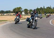 Moto Guzzi samlar Fotografering för Bildbyråer