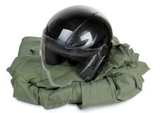 Moto helmet Stock Photography