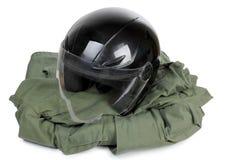 Moto helmet Stock Photography