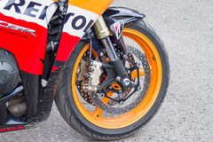 Moto Honda de roue avant Photo stock